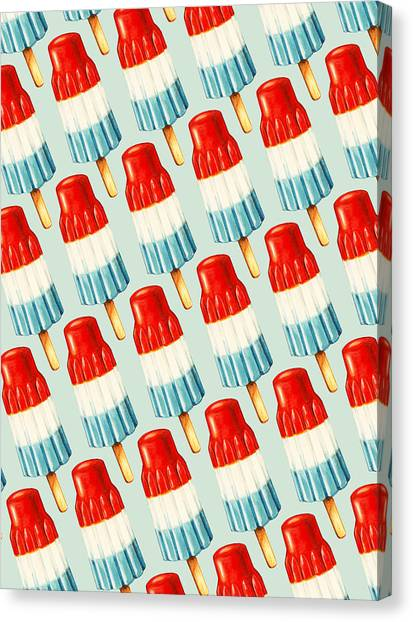 Flag Canvas Print - Bomb Pop Pattern by Kelly Gilleran