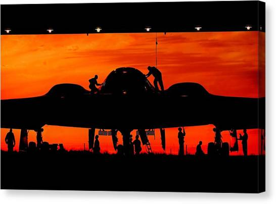 National Guard Canvas Print - Bomber Prep by Benjamin Yeager
