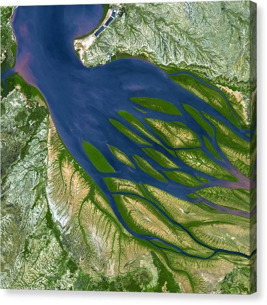 Landform Canvas Print - Bombetoka Bay Madagascar by Adam Romanowicz