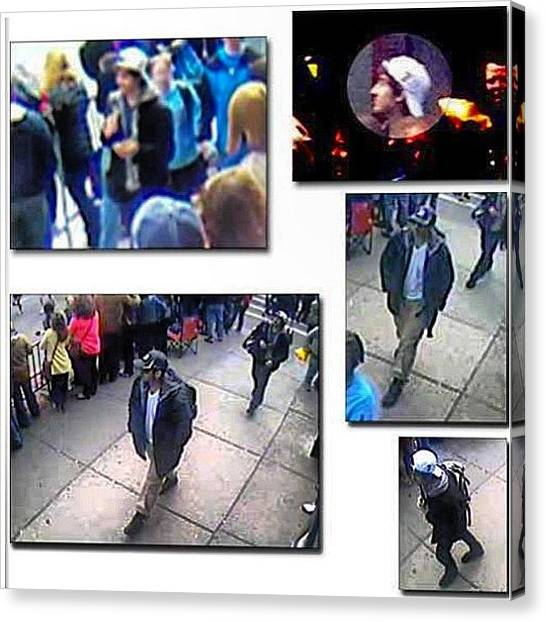 Fbi Canvas Print - #bombingsuspects #bostonbombing by Nicole Riccio