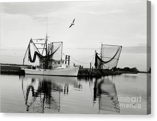 Shrimp Boats Canvas Print - Bon Temps by Scott Pellegrin