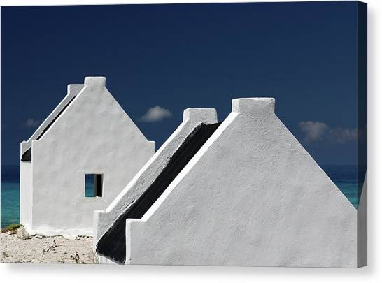 South American Canvas Print - Bonaire Slaves Huts by Hans-wolfgang Hawerkamp