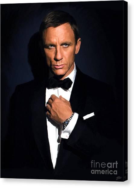 Tuxedo Canvas Print - Bond - Portrait by Paul Tagliamonte