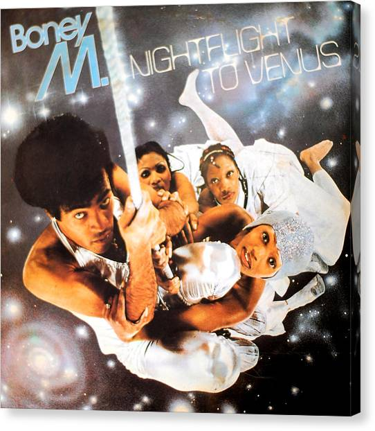 Venus Canvas Print - Boney M Night Flight To Venus by Gina Dsgn