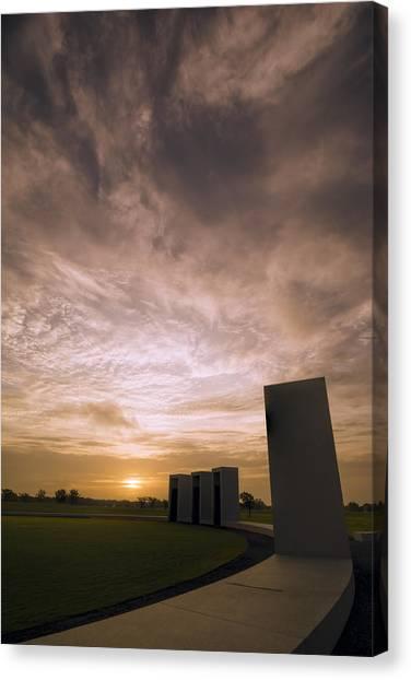 Texas A Canvas Print - Bonfire Memorial by Joan Carroll