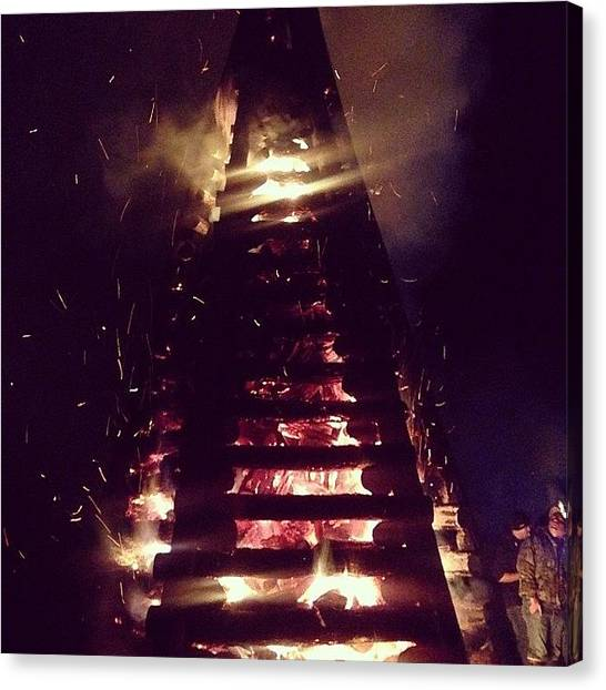 Rivers Canvas Print - Bonfires #igersoflouisiana by Scott Pellegrin