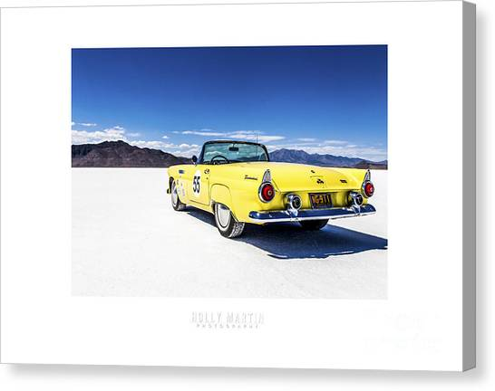 Mirage Canvas Print - Bonneville T-bird by Holly Martin