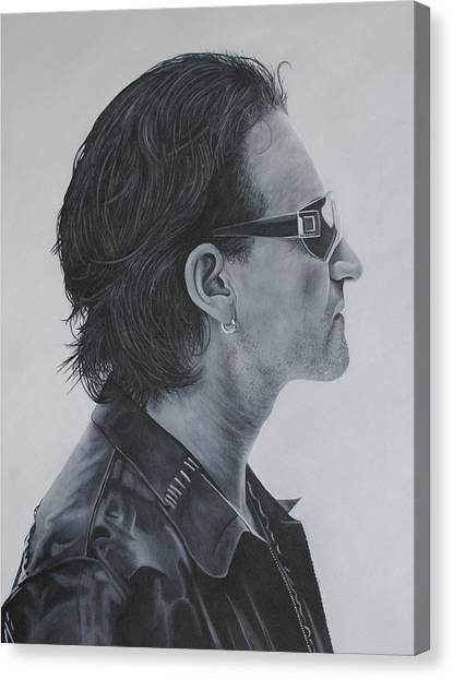 Bono Canvas Print - Bono by David Dunne