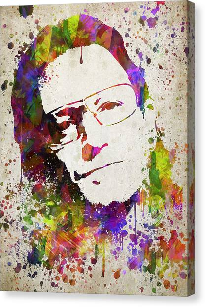 Bono Canvas Print - Bono In Color by Aged Pixel
