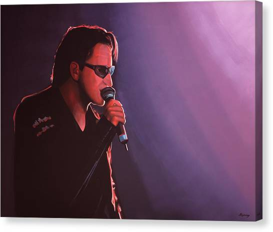 Punk Canvas Print - Bono U2 by Paul Meijering