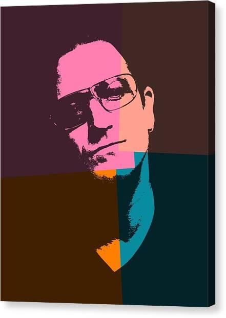 Bono Canvas Print - Bono Pop Art by Dan Sproul