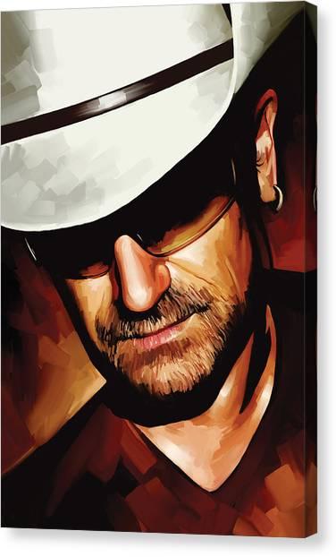 Bono Canvas Print - Bono U2 Artwork 3 by Sheraz A