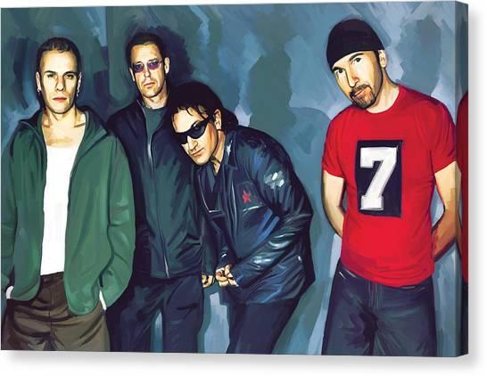 U2 Canvas Print - Bono U2 Artwork 5 by Sheraz A