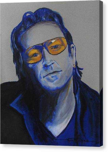 Bono Canvas Print - Bono U2 by Eric Dee
