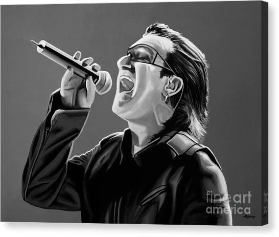 U2 Canvas Print - Bono U2 by Meijering Manupix