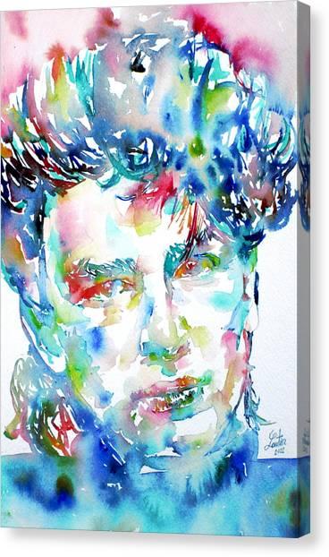 Bono Canvas Print - Bono Watercolor Portrait.1 by Fabrizio Cassetta