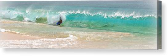 Bodyboard Canvas Print - Boogie Board Surfing by Athena Mckinzie