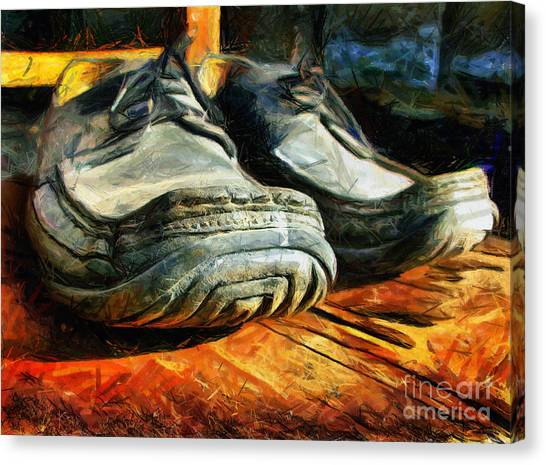 Boogie Shoes - Walking Story - Drawing Canvas Print