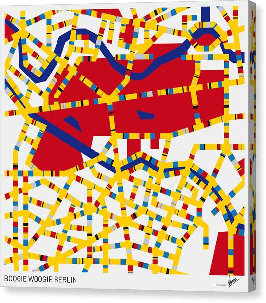 De Stijl Canvas Print - Boogie Woogie Berlin by Chungkong Art