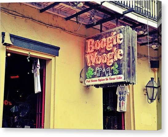 Boogie Woogie Neon Canvas Print
