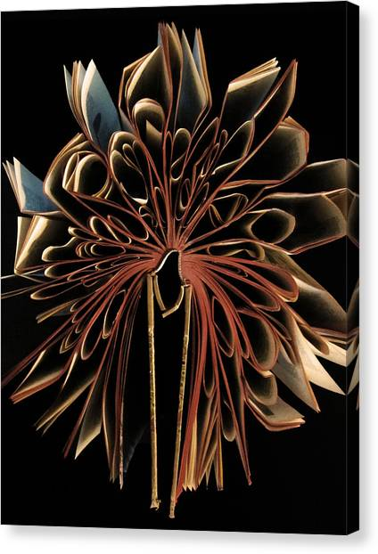 Supplies Canvas Print - Book Flower by Nicklas Gustafsson