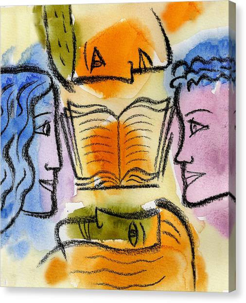 Academic Art Canvas Print - College by Leon Zernitsky