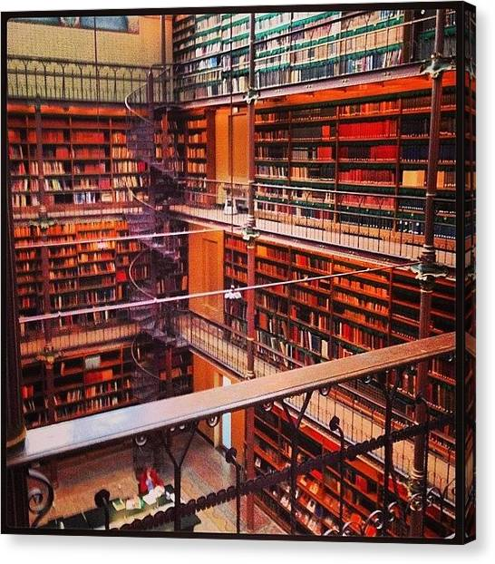 Rijksmuseum Canvas Print - Books And Books With A Winding by Ellie Miller
