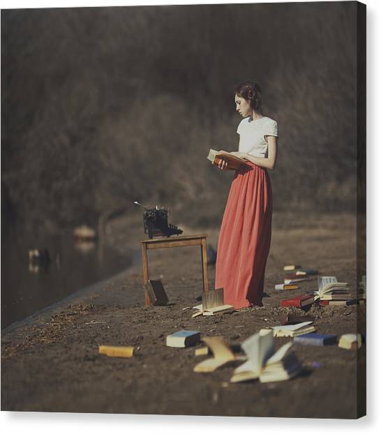 Supplies Canvas Print - Books by Anka Zhuravleva