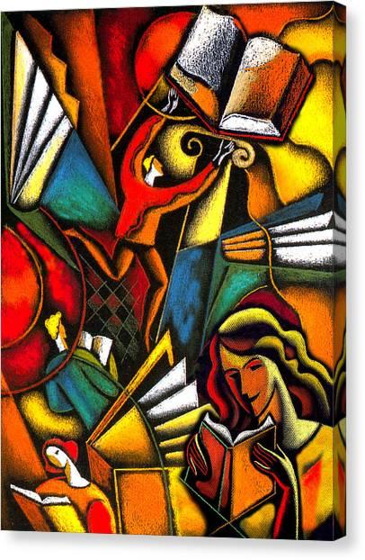 Academic Art Canvas Print - Books by Leon Zernitsky