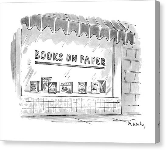 'books On Paper' Canvas Print