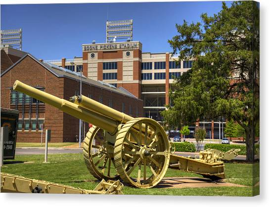 Oklahoma State University Canvas Print - Booming Campus by Ricky Barnard