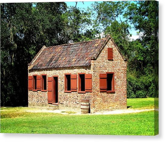 Boone Hall Plantation Slave Quarters Canvas Print