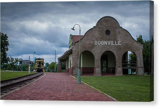 Boonville Depot Canvas Print