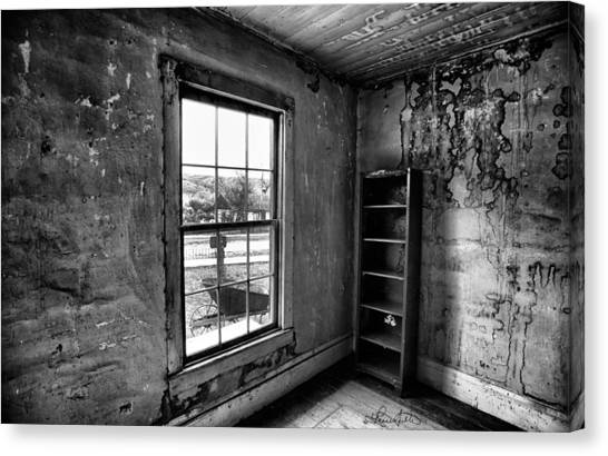 Boo's Room - Black And White Canvas Print