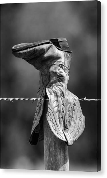 Boot Post Canvas Print