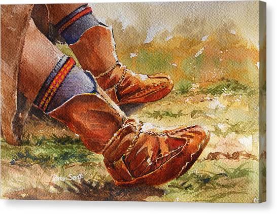 Hindu Kush Canvas Print - Boots Afghanistan by Brian Serff