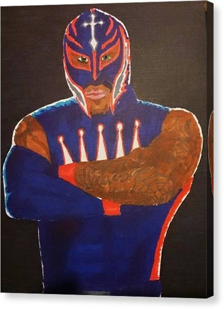 Wrestling Canvas Print - Booyaka Booyaka  by Mathew Aspey