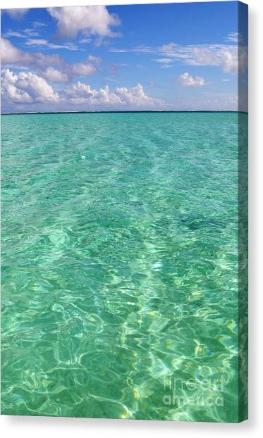 Bora Bora Green Water II Canvas Print