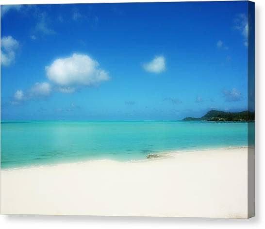 Bora Shades Of Blue And White Canvas Print
