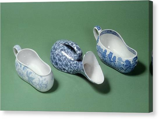 Chamber Pot Canvas Print - Bordaloues And Male Urinal by Science Photo Library