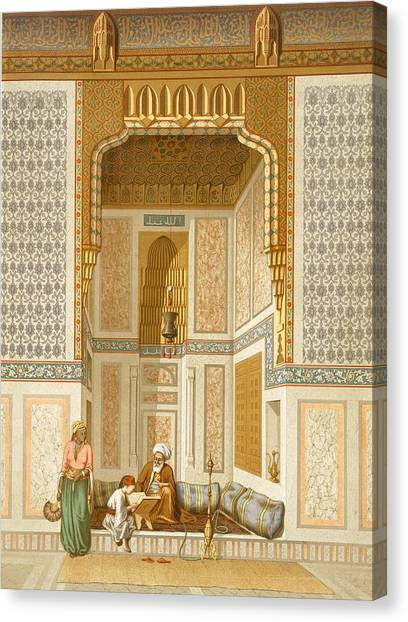 Muslim Canvas Print - Bordeyny Mosque, Cairo by French School