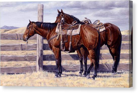 Equestrian Canvas Print - Bored by JQ Licensing