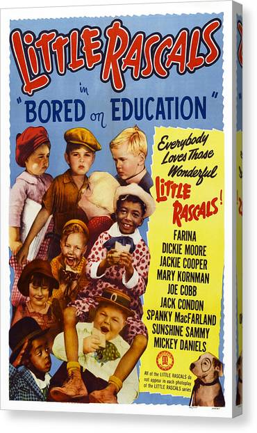 Dickie Moore Canvas Print - Bored Of Education, Us Poster, Top by Everett