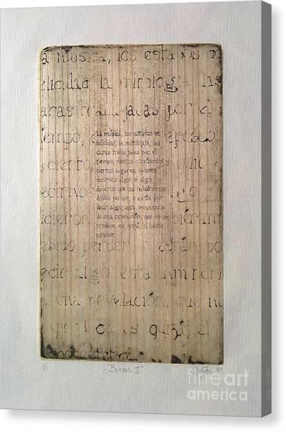 Borges 4 Canvas Print