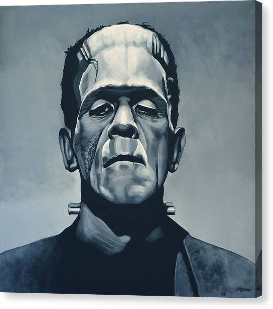 Halloween Canvas Print - Boris Karloff As Frankenstein  by Paul Meijering