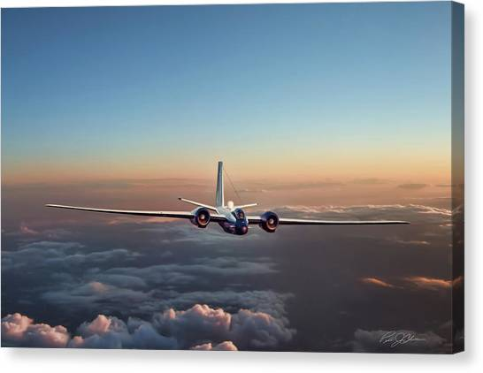 Canberra Canvas Print - Born Again Wb-57f by Peter Chilelli
