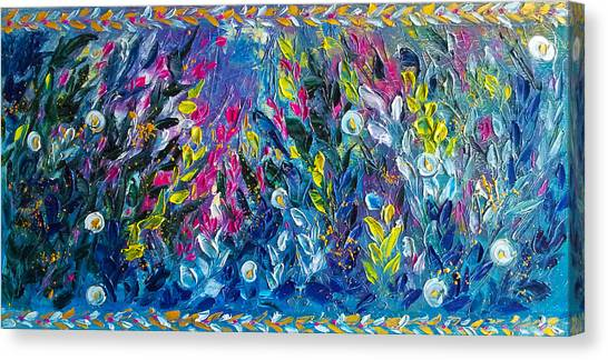 Born From Chaos Abstract Floral Art Canvas Print