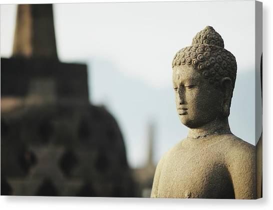 Borobudur Budda Statue Canvas Print
