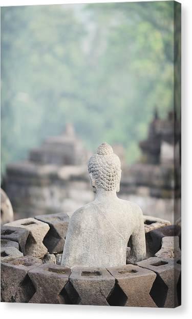 Borobudur Buddha Statue Canvas Print