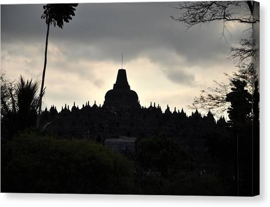 Borobudur Temple Canvas Print by Achmad Bachtiar
